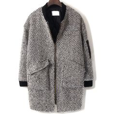 Houndstooth Pockets Woolen Coat (7890 RSD) ❤ liked on Polyvore featuring outerwear, coats, multicolor, hounds tooth coat, houndstooth coat, wool coat, colorful coat and woolen coat