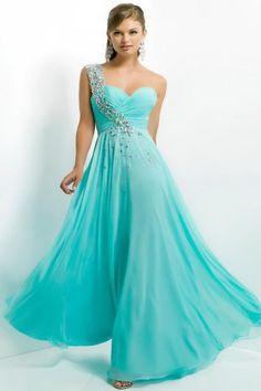Unique And Daring Floor-Length Sequins Blue Prom Evening Dress