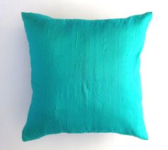 Solid mint Green  dupioni silk cushion cover rich  and  elegant  decorative throw pillows- reduce  price  18 inch  in  stock  2 pcs
