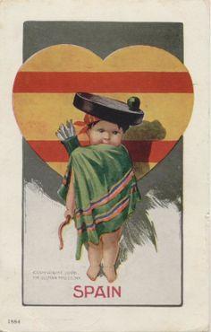 Charles Twelvetrees: Cupid Series Postcard.