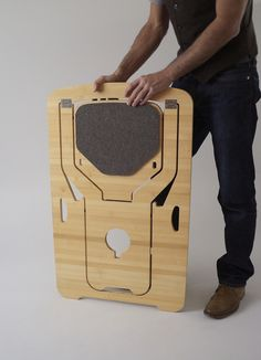 Living in a shoebox | The folding chair from Monstrans is made of sustainable bamboo plywood