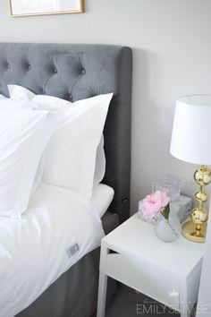 Soverom inspo, grått og blått er flott! :-)  Soverom  Pinterest ...