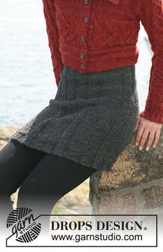 Drops Design, Knitting Patterns Free, Knit Patterns, Free Knitting, Skirt Pattern Free, Free Pattern, Knit Skirt, Knit Dress, How To Make Skirt