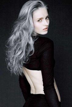 grey hair pale skin - Google Search