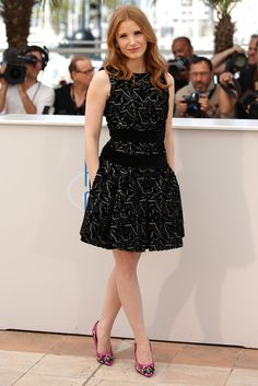 Fabulously Spotted: Jessica Chastain Wearing Alexander McQueen - 'The Disappearance of Eleanor Rigby' 2014 Cannes Film Festival Photocall  - http://www.becauseiamfabulous.com/2014/05/jessica-chastain-wearing-alexander-mcqueen-the-disappearance-of-eleanor-rigby-2014-cannes-film-festival-photocall/