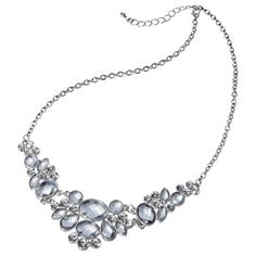 Probably perfect length, I like this one - Stones Plate Necklace - Silver