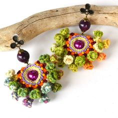 Hey, I found this really awesome Etsy listing at https://www.etsy.com/listing/203828483/folk-mexican-earrings-pom-pom-earrings