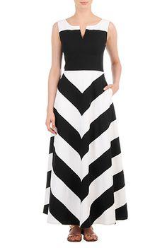 Color block maxi dress plus