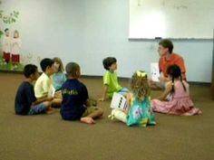 Eurythmics Class - Atlanta Suzuki Institute.  Teaching half, quarter, eighth, etc. notes through movement