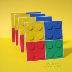 Idee als Einladungskarte zur Legoolympiade zum 9. Geburtstag