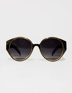Yellow and black rounded sunglasses