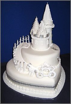 Glitter Castle Wedding Cake Topper Cakes Decorated With Golden Paper Beach Theme Based Wh