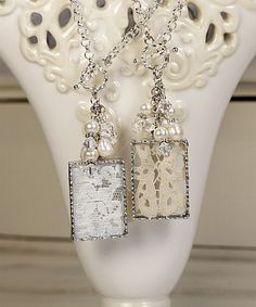 lace, I always thought these would make great wedding keepsakes