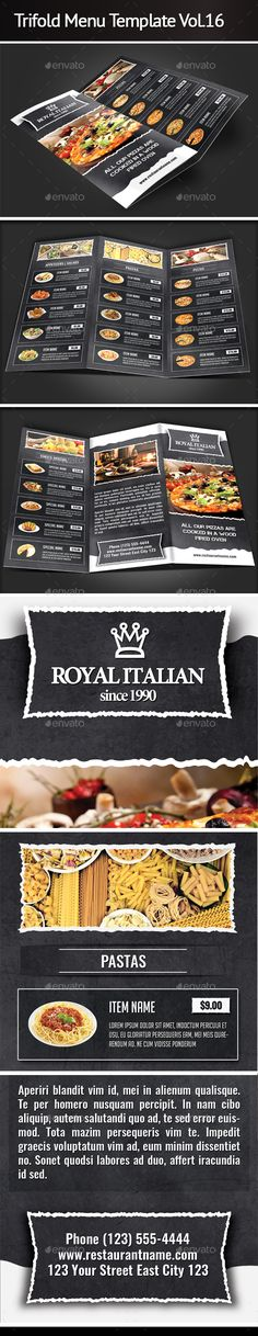 Modern Vintage Restaurant Menu Templates Restaurant menu - food menu template
