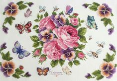Butterfly Cross Stitch, Needlepoint, Punto De Cruz, Dots