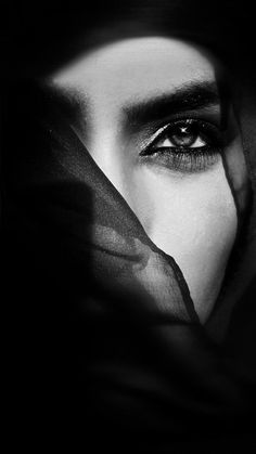 ♂ Black and white woman portrait the eye