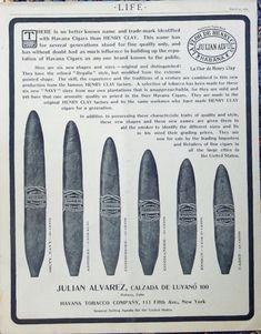 Havana Tobacco Company  Rare 1905 print ad  Illustration  Henry Clay Cigar  1905 life magazine