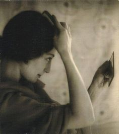 Untitled (Girl brushing her hair), by A. Gale :: The Collection :: Art Gallery NSW Hair A, Her Hair, Photo B, Hair Brush, Vintage Pictures, Mona Lisa, Art Gallery, Brushing, Black And White