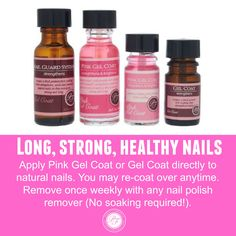 How to get long, strong, healthy nails with a healthy gel manicure.