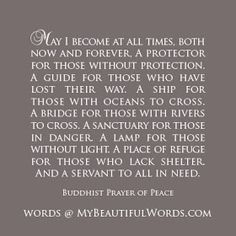 My Beautiful Words.: A Buddhist Prayer of Peace...
