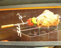 "Deluxe Universal Rotisserie Barbecue Grill Kit Electric Motor BBQ 32"" Unused #Bradley"