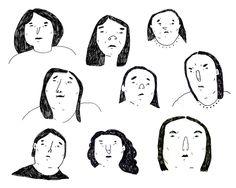 Sofie Marklund Face Sketch, Cartoon Faces, Portrait Illustration, Character Development, Contours, Drawing People, Pencil Art, Prague, Zine