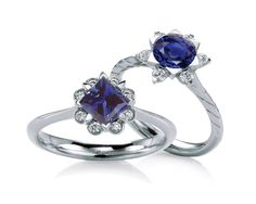 September is Sapphire month!  Love these MaeVona rings with sapphire centers!  We specialize in brokering Montana Sapphires, Yogo Sapphires, and other fine sapphires from around the world. www.BozemanJewelry.com
