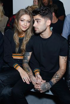 Gigi Hadid&Zayn Malik; they're such cuties together