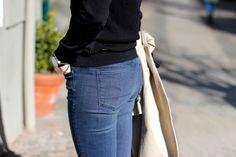 Nike Jane of #thisisjanewayne wearing G-Star's Contour High Waist Skinny Jeans