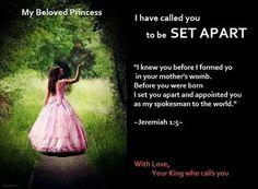 you are Gods princess