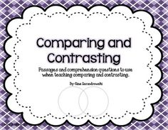 Comparing and Contrasting with Non Fiction Texts