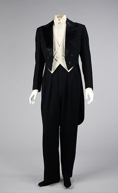 Tuxedo  House of Lanvin 1927  Tuxedo?! It is a white tie-and-tails!