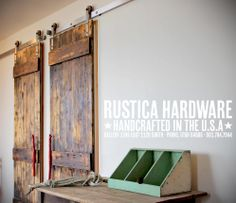What's cool about rustic? You decide.  http://rusticahardware.com/barn-door-hardware/