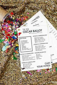 2014 Free Printable Oscar Ballot