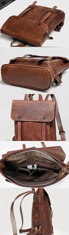 Handmade Leather satchel bag backpack bag men shoulder bag