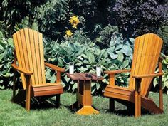 How to Build an Adirondack Lawn Chair - Plans for Building an Adirondack Chair