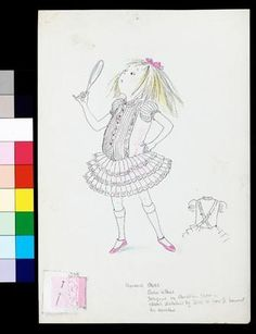 An unused sketch for Eloise in Paris, circa 1957. The dress design is by Christian Dior, dictated to his then assistant, Yves St. Laurent