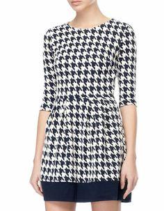 Houndstooth pattern dress