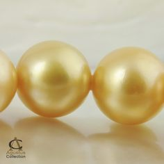 Eastern Trade Winds :: Genuine Pearls :: South Sea Pearls :: South Sea Pearl Strands :: STRAND 16 Round Golden AAA SOUTH SEA PEARLS 26g/6.69""