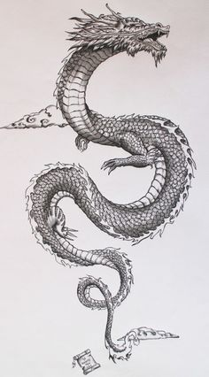 Tatto Ideas 2017 Ancient japanese dragon onBehance Tatto...