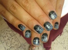 CEMETERY GHOST!!! by R7777 - Nail Art Gallery nailartgallery.nailsmag.com by Nails Magazine www.nailsmag.com #nailart