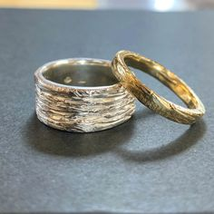 Fiona made herself and her partner a set of beautiful textured gold and silver stacker rings. These rings were made from wax and cast in silver and yellow gold. The results are stunning. I have serious ring envy.