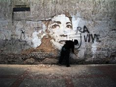 deconstructed wall art by alexandre farto aka vhils