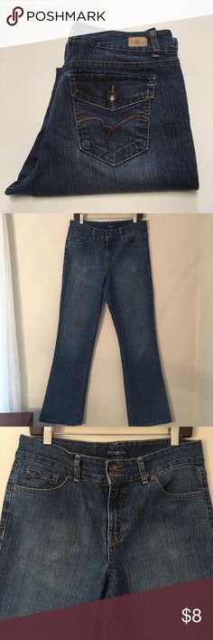 """Bandolier Boot Cut Jean Size 10 Inseam 33"""" Good condition. The light spots on front are from ironing jeans. Not stains or wear spots. I think these are Boot Cut not flare. I have to included measurements. Waist measures 35.25"""" inches. Rise 11"""" inches. Inseam 33"""" inches. From waist to hem 43.5"""" inches. Leg opening 20"""" inches in circumference. No spots or stains. Bandolino Jeans Boot Cut"""