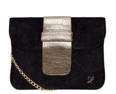Sarah Forsyth - Sarah Jane clutch in Suede / Calves Leather