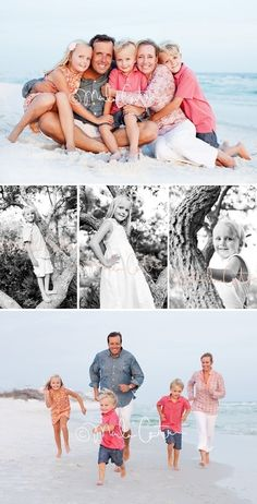 I like the coral/pink: what to wear for family pictures on the beach - Bing Images by Malesa