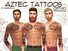 Sims 4 CC's - The Best: Aztec Tattoos by WaterWoman
