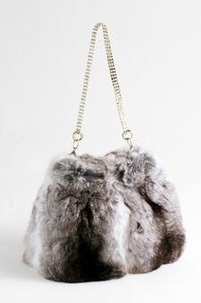 Chinchilla Fur Evening Bag