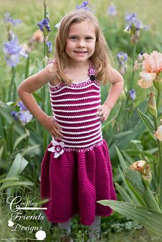 Swirly Whirly Childs Sundress by Kate Wagstaff The Swirly Whirly Child size Sundress is great for summer and has a fantastic texture! Every little girl needs a fun twirly dress for Summer and Fall. Add a cute little cardigan and wear it through winter and spring too.