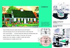 1950s floor plan and rendering of Cape Cod house called Cranberry  ~ go to site and click the pic for a larger size